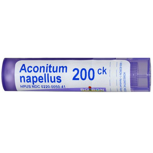 Boiron, Single Remedies, Aconitum Napellus, 200CK, Approx 80 Pellets Review