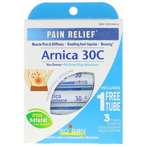 Boiron, Single Remedies, Arnica 30C, Pain Relief, 3 Tubes, 80 Pellets Each Review