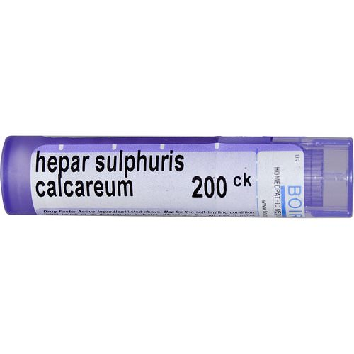 Boiron, Single Remedies, Hepar Sulphuris Calcareum, 200CK, Approx 80 Pellets Review