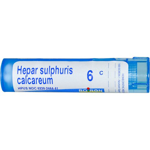 Boiron, Single Remedies, Hepar Sulphuris Calcareum, 6C, Approx 80 Pellets Review