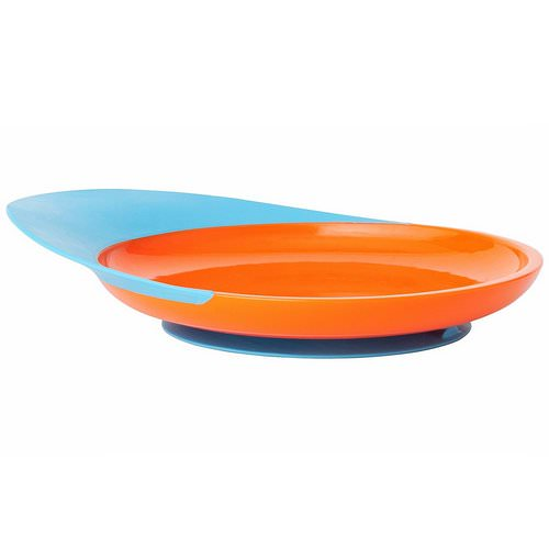 Boon, Catch Plate, Toddler Plate with Spill Catcher, 9 + Months, Orange/Blue, 1 Plate Review