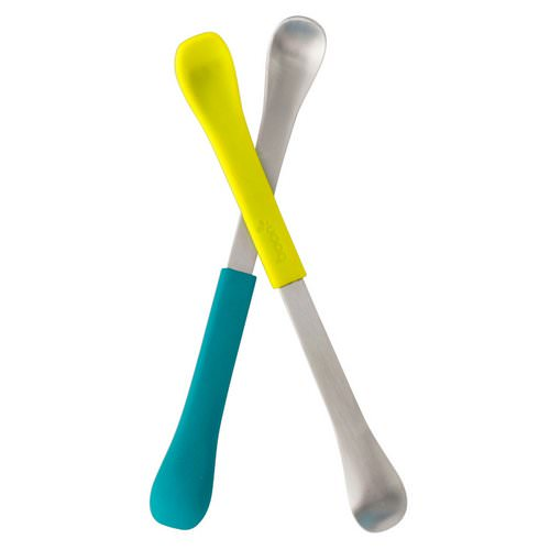 Boon, Swap, 2-in-1 Feeding Spoon, 4+ Months, Teal & Yellow, 2 Spoons Review