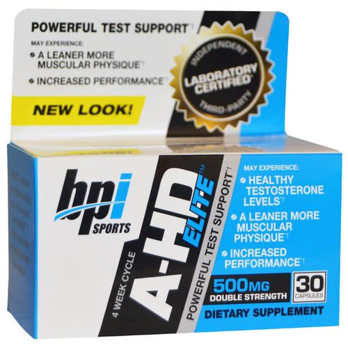 BPI Sports, A-HD Elite, 500 mg, 30 Capsules Review