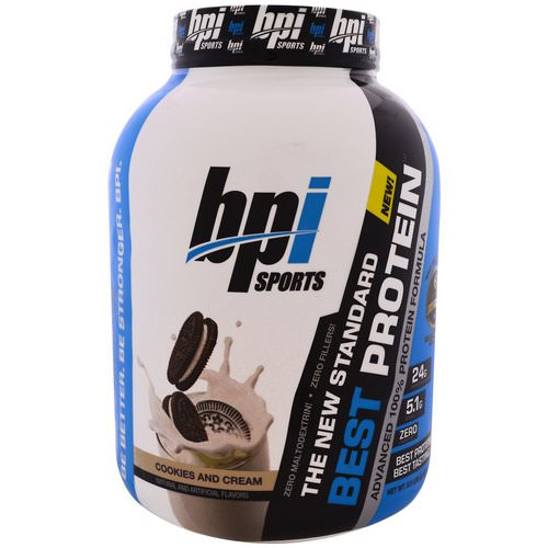BPI Sports, Best Protein, Advanced 100% Protein Formula, Cookies and Cream, 5.2 lbs (2,363 g) Review