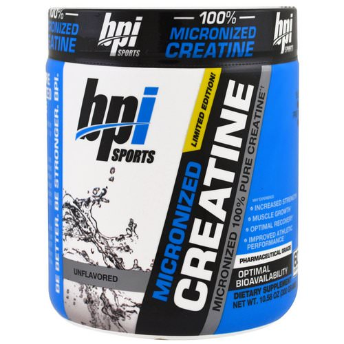 BPI Sports, Micronized Creatine, Limited Edition, Micronized 100% Pure Creatine, Unflavored, 10.58 oz (300 g) Review