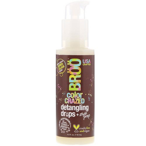 BRoo, Color Crazed Detangling Drops, Quinoa Colada, 4 fl oz (118 ml) Review