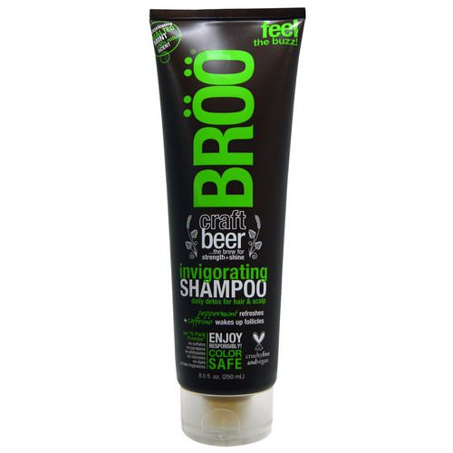 BRoo, Invigorating Shampoo, Malted Mint, 8.5 fl oz (250 ml) Review