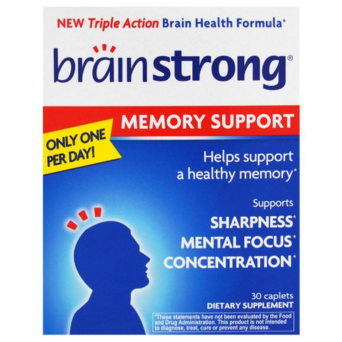 BrainStrong, Memory Support, 30 Caplets Review