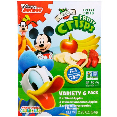 Brothers-All-Natural, Fruit-Crisps, Disney Junior, Variety Pack, 6 Pack, 2.26 oz (64 g) Review