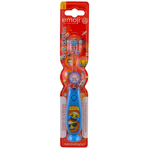 Brush Buddies, Emoji Toothbrush, With Timer, Soft, 1 Toothbrush Review