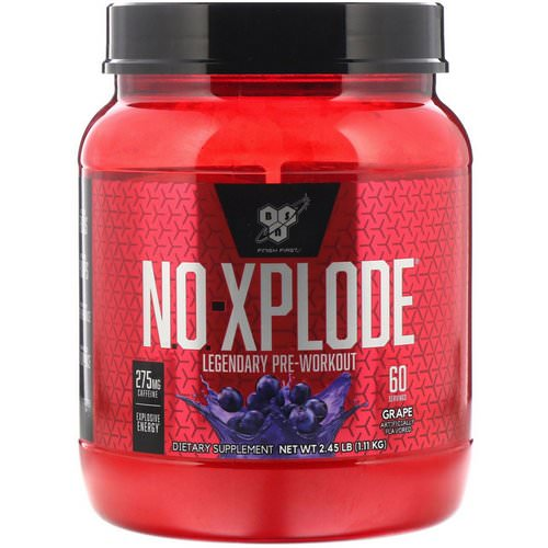 BSN, N.O.-Xplode, Legendary Pre-Workout, Grape, 2.45 lbs (1.11 kg) Review