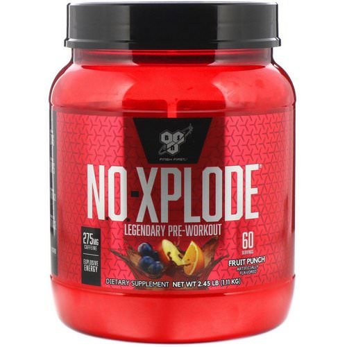 BSN, N.O.-Xplode, Legendary Pre-Workout, Fruit Punch, 2.45 lbs (1.11 kg) Review