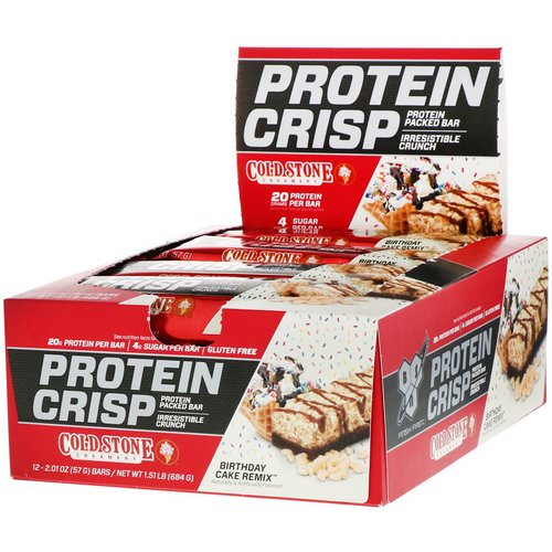 BSN, Protein Crisp, Birthday Cake Remix, 12 Bars, 2.01 oz (57 g) Each Review