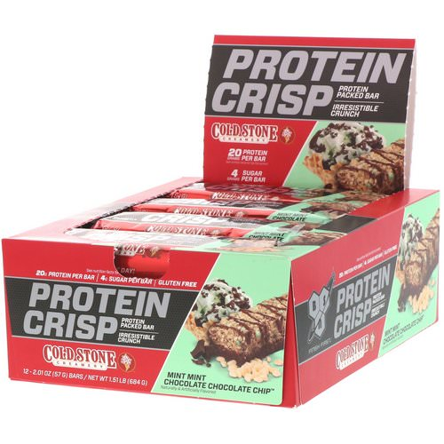BSN, Protein Crisp, Mint Mint Chocolate Chocolate Chip, 12 Bars, 2.01 oz (57 g) Each Review