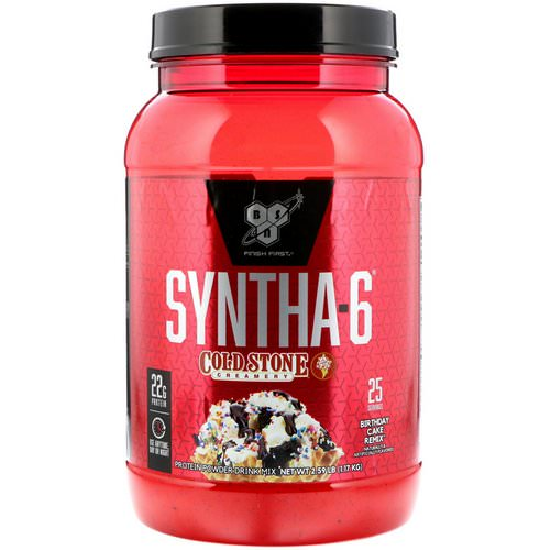 BSN, Syntha-6, Cold Stone Creamery, Birthday Cake Remix, 2.59 lb (1.17 kg) Review