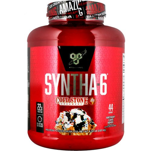 BSN, Syntha-6, Cold Stone Creamery, Birthday Cake Remix, 4.56 lb (2.07 kg) Review
