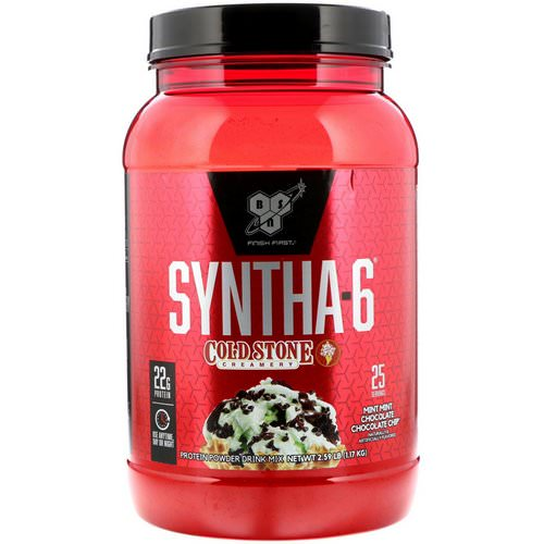 BSN, Syntha-6, Cold Stone Creamery, Mint Mint Chocolate Chocolate Chip, 2.59 lb (1.17 kg) Review