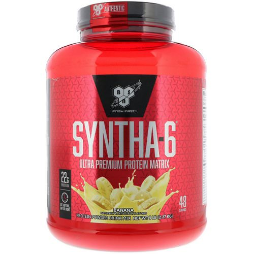 BSN, Syntha-6, Ultra Premium Protein Matrix, Banana, 5 lb (2.27 kg) Review