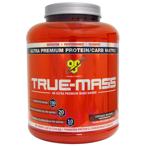 BSN, True-Mass, Ultra Premium Protein/Carb Matrix, Chocolate Milkshake, 5.82 lbs (2.64 kg) Review