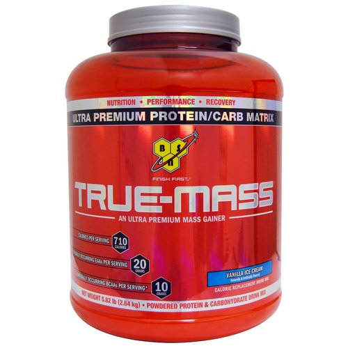 BSN, True Mass, Ultra Premium Protein/Carb Matrix, Vanilla Ice Cream, 5.82 lbs (2.64 kg) Review