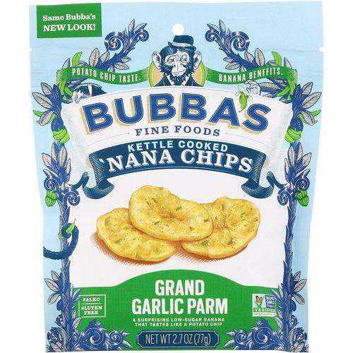 Bubba's Fine Foods, 'Nana Chips, Grand Garlic Parm, 2.7 oz (77 g) Review