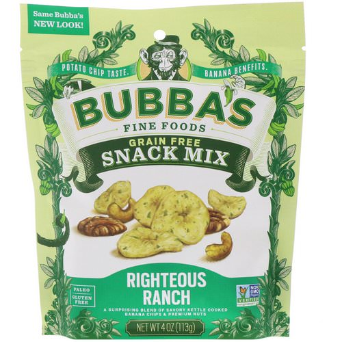 Bubba's Fine Foods, Snack Mix, Righteous Ranch, 4 oz (113 g) Review