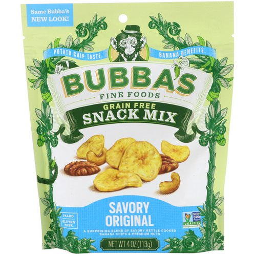Bubba's Fine Foods, Snack Mix, Savory Original, 4 oz (113 g) Review