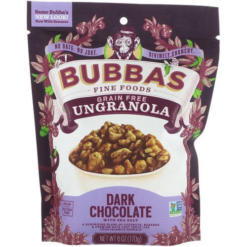 Bubba's Fine Foods, UnGranola, Dark Chocolate with Sea Salt, 6 oz (170 g) Review