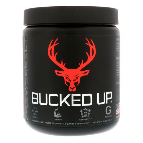Bucked Up, Pre-Workout, Blood Raz, 10.56 oz (299 g) Review