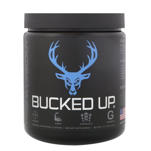 Bucked Up, Pre-Workout, Blue Raz, 11.11 oz (315 g) Review