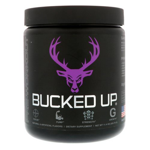 Bucked Up, Pre-Workout, Grape Gainz, 11.4 oz (323.70 g) Review