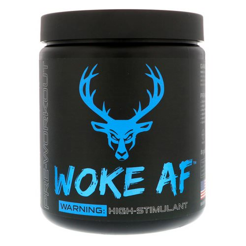 Bucked Up, Woke AF, Pre-Workout, Blue Raz, 12.61 oz (357.6 g) Review
