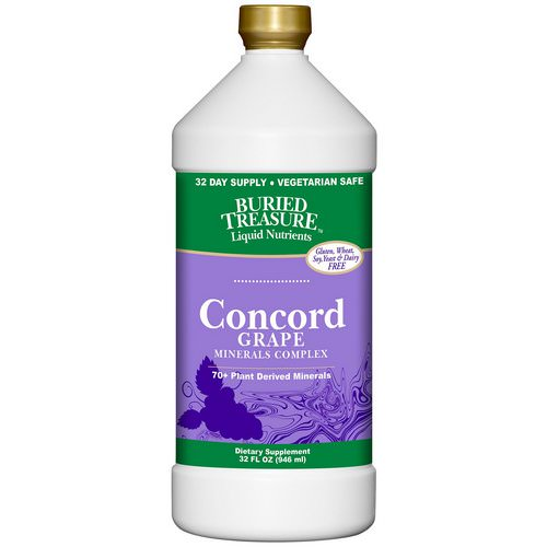 Buried Treasure, Liquid Nutrients, 70+ Plant Derived Minerals, Concord Grape, 32 fl oz (946 ml) Review