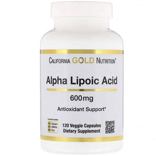 California Gold Nutrition, Alpha Lipoic Acid, 600 mg, 120 Veggie Capsules Review