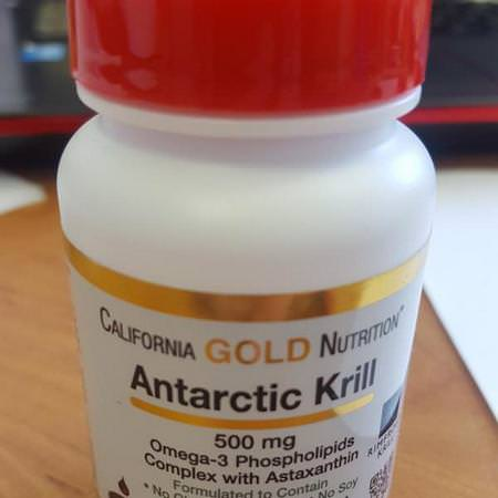 California Gold Nutrition, Antarctic Krill Oil, with Astaxanthin, RIMFROST, Natural Strawberry & Lemon Flavor, 500 mg, 120 Fish Gelatin Softgels Review