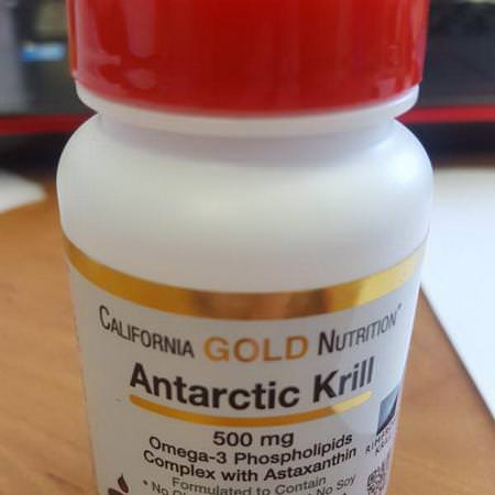 California Gold Nutrition, Antarctic Krill Oil, with Astaxanthin, RIMFROST, Natural Strawberry & Lemon Flavor, 500 mg, 30 Fish Gelatin Softgels Review