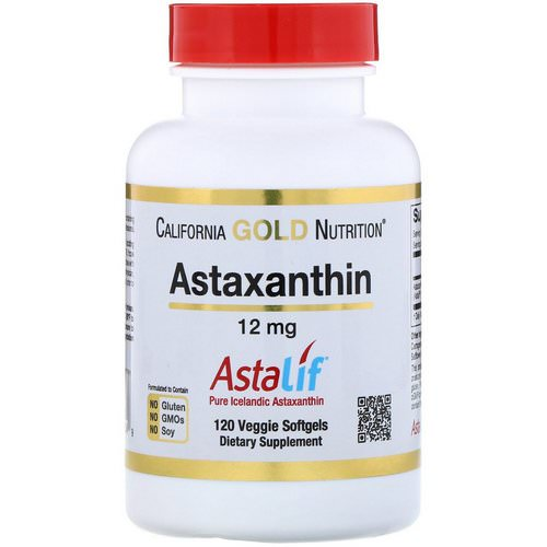 California Gold Nutrition, Astaxanthin, AstaLif Pure Icelandic, 12 mg, 120 Veggie Softgels Review