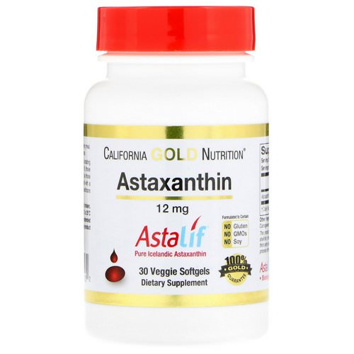California Gold Nutrition, Astaxanthin, AstaLif Pure Icelandic, 12 mg, 30 Veggie Softgels Review