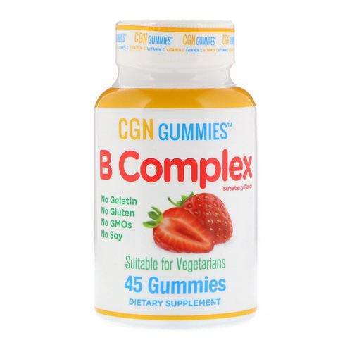 California Gold Nutrition, B Complex Gummies, No Gelatin, No Gluten, Natural Strawberry Flavor, 45 Gummies Review