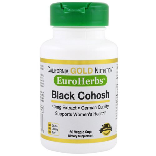 California Gold Nutrition, Black Cohosh Extract, 40 mg, 60 Veggie Caps Review