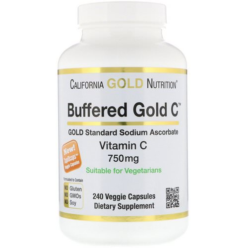 California Gold Nutrition, Buffered Vitamin C Capsules, 750 mg, 240 Veggie Capsules Review