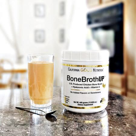 California Gold Nutrition CGN, Bone Broth, Chicken Protein