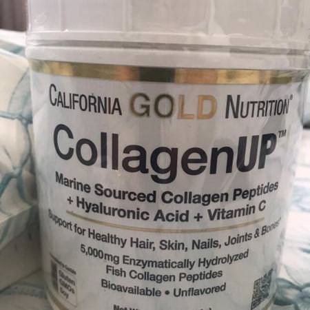 California Gold Nutrition, CollagenUP, Marine Collagen + Hyaluronic Acid + Vitamin C, Unflavored, 7.26 oz (206 g) Review