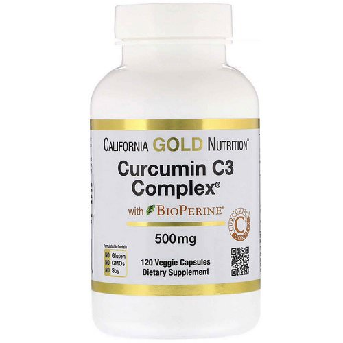 California Gold Nutrition, Curcumin C3 Complex with BioPerine, 500 mg, 120 Veggie Capsules Review