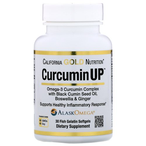 California Gold Nutrition, CurcuminUP, Omega-3 Curcumin Complex, Inflammation Support, 30 Fish Gelatin Softgels Review