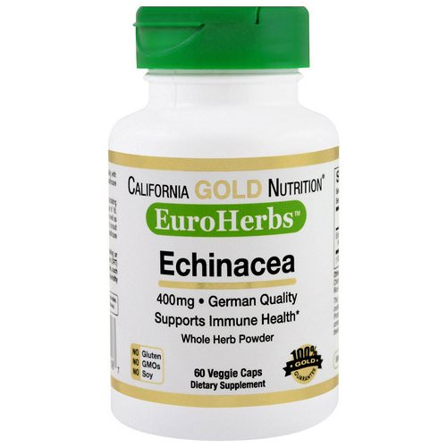 California Gold Nutrition, Echinacea, EuroHerbs, Whole Powder, 400 mg, 60 Veggie Caps Review