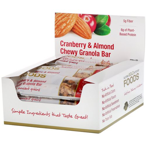 California Gold Nutrition, Foods, Cranberry & Almond Chewy Granola Bars, 12 Bars, 1.4 oz (40 g) Each Review