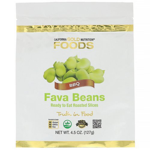 California Gold Nutrition, Foods, Fava Beans, Ready to Eat Roasted Slices, BBQ, 4.5 oz (127 g) Review