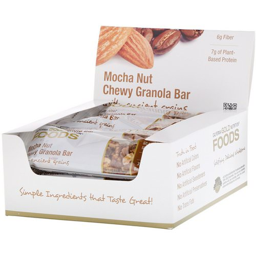 California Gold Nutrition, Foods, Mocha Nut Chewy Granola Bars, 12 Bars, 1.4 oz (40 g) Each Review