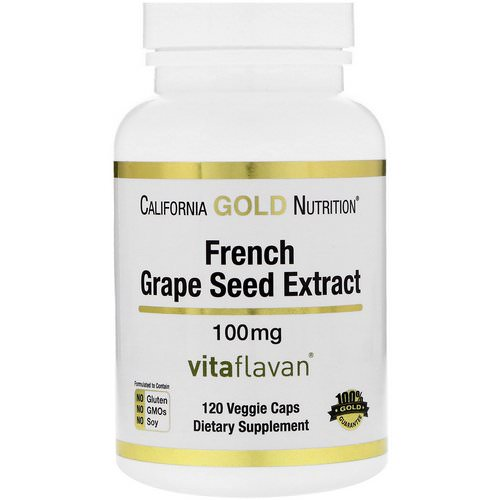 California Gold Nutrition, French Grape Seed Extract, VitaFlavan, Antioxidant Polyphenol, 100 mg, 120 Veggie Caps Review